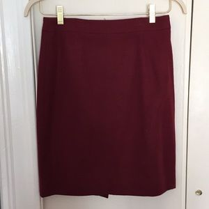 Maroon JCrew pencil skirt